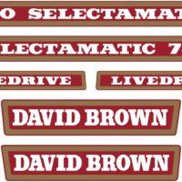 David Brown 780 Selectamatic Tractor Decal Set