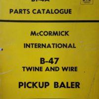 McCormick International B47 Baler Parts Catalogue