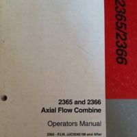 Case/IH 2365 2366 Axial Flow Combine Operators Manual