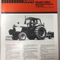 Case 1494 Tractor Sales Brochure
