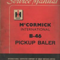 McCormick International B46 Baler Service Manual
