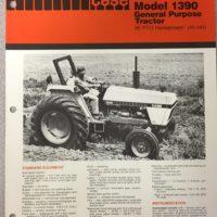 Case 1390 Tractor Sales Brochure