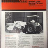 Case 1294 Tractor Sales Brochure