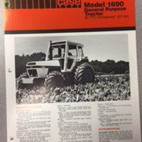 Case 1690 Tractor Sales Brochure
