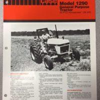 Case 1290 Tractor Sales Brochure