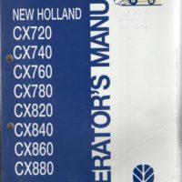 New Holland CX Series Combine Operators Manual
