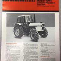 Case 1594 Tractor Sales Brochure