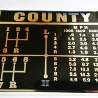 County Tractor Speed Decal