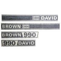 Case David Brown 990 Selectamatic Tractor Decal Set