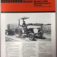 Case 1194 Tractor Sales Brochure