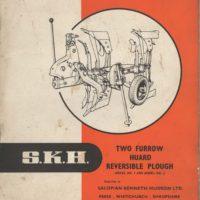 SKH Huard Model No.1 & No.2  2F Plough Parts & Operators Manual