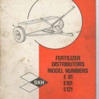 SKH E81 E101 E121 Fertilizer Distributor Parts & Operators Manual