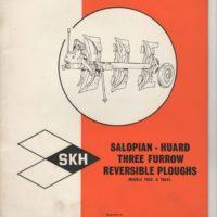 SKH Huard TR58 & TR61S 3F Plough Operators Manual
