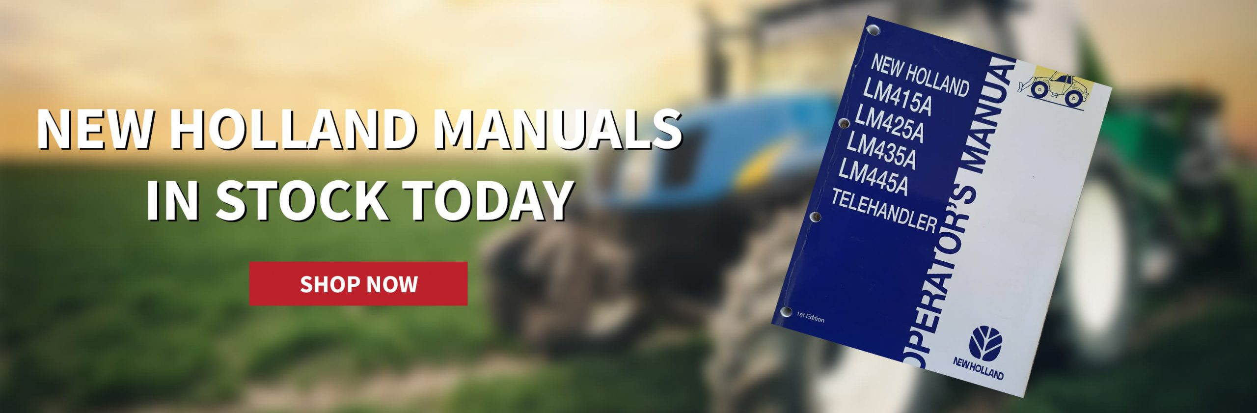 New Holland manuals now in stock with SPS Parts