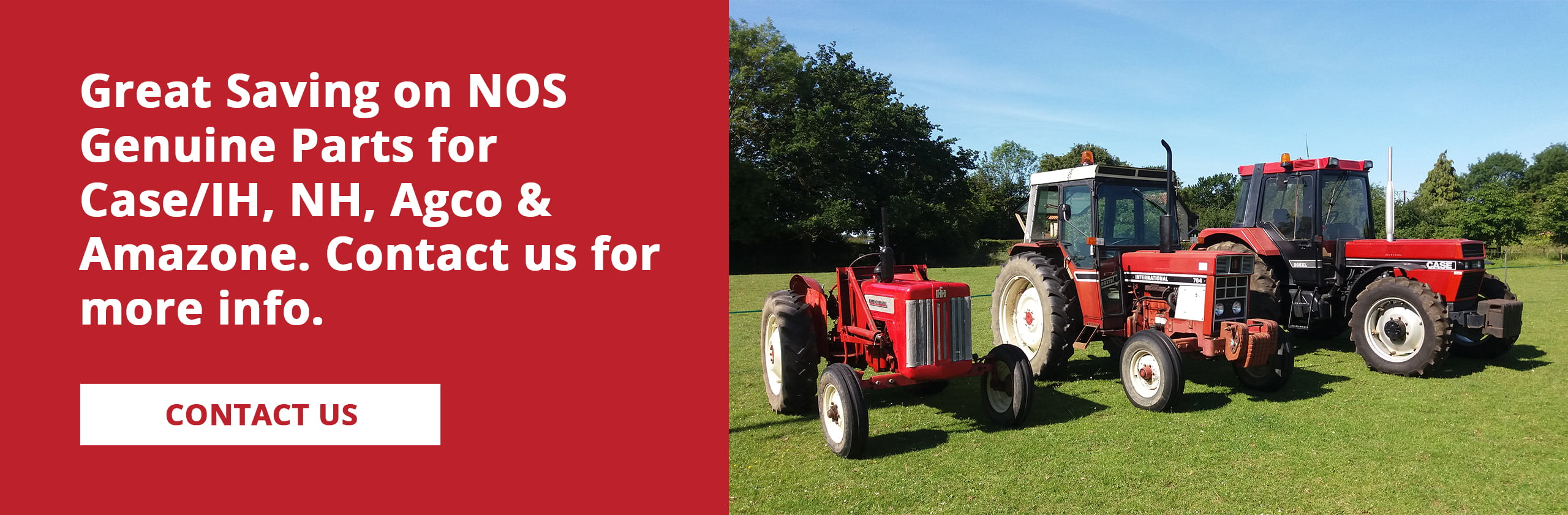 Great savings on Case/IH, NH, Agco and Amazone