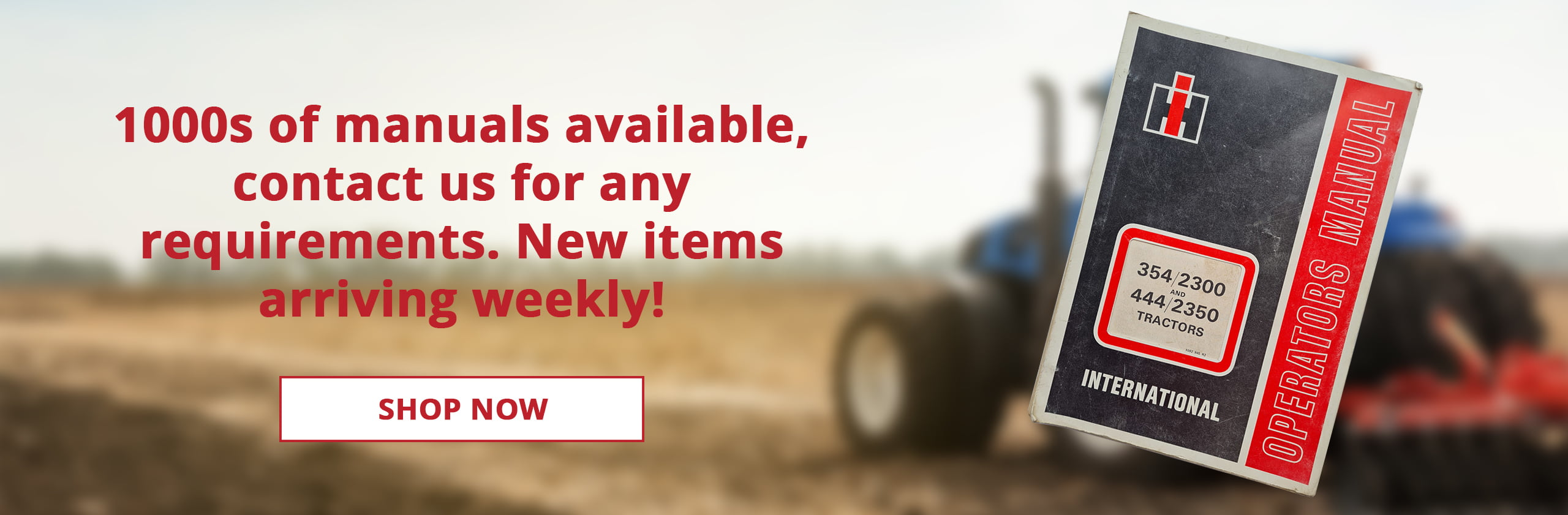 Tractor manuals from SPS Parts